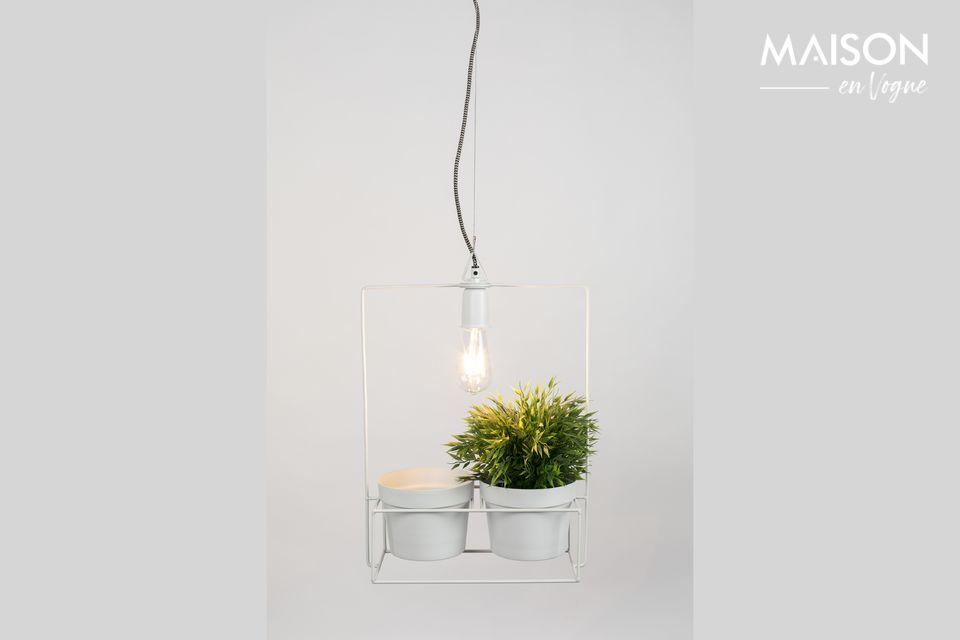 Que diriez-vous de mélanger une lampe à des pots de fleurs ?