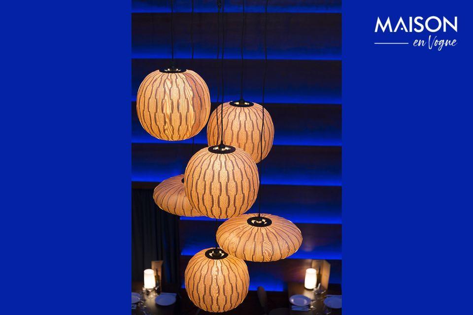 La suspension lumineuse Bond Dutchbone offre la combinaison d\'un design à la fois naturel et