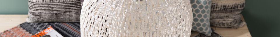 Mise en avant matière Suspension Cable 40 Blanc