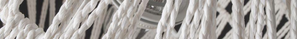 Mise en avant matière Suspension Cable 60 blanche