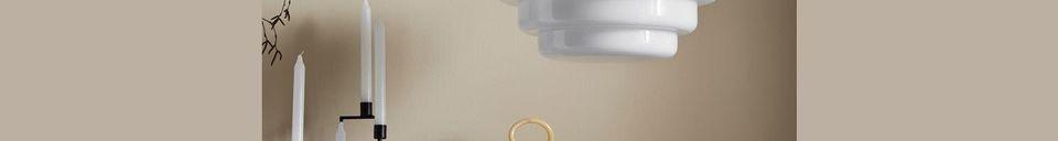 Mise en avant matière Suspension en verre et chrome Hirel