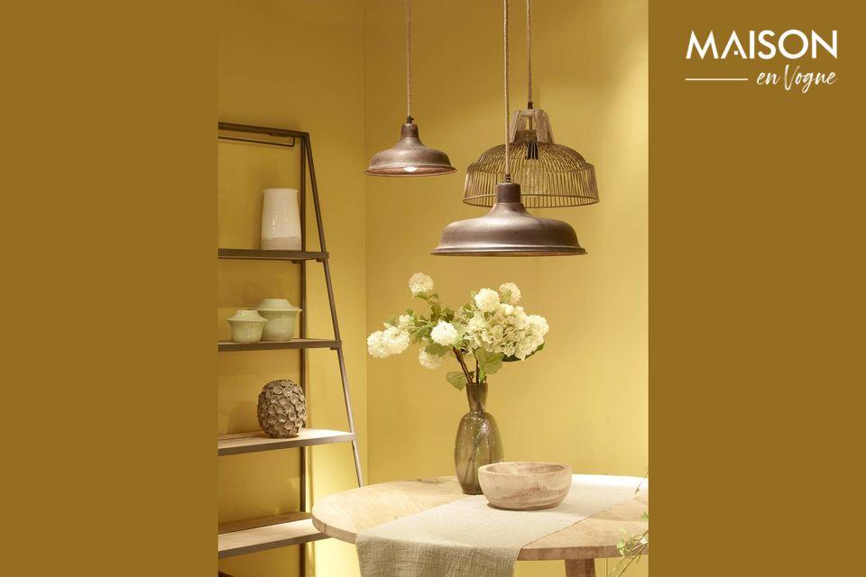 Une lampe vintage au charme rustique