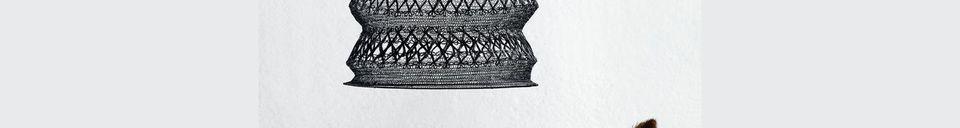 Mise en avant matière Suspension Frasseto à treillis métallique