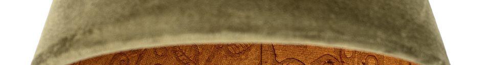 Mise en avant matière Suspension Rosay en coton vert