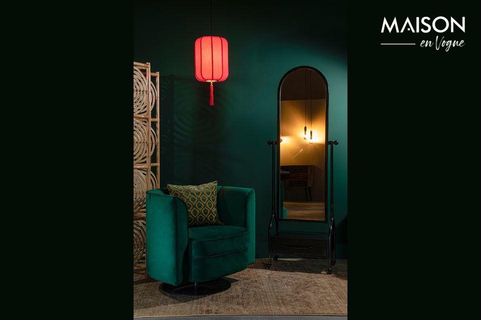Suspension lumineuse en forme de lanterne chinoise