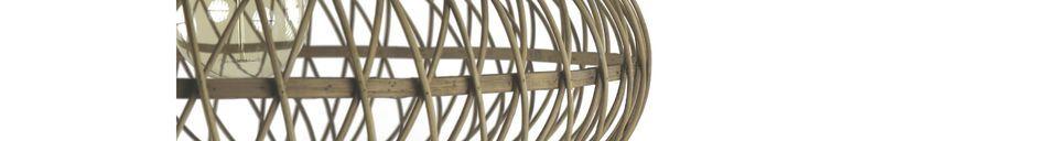 Mise en avant matière Suspension Tao en bambou