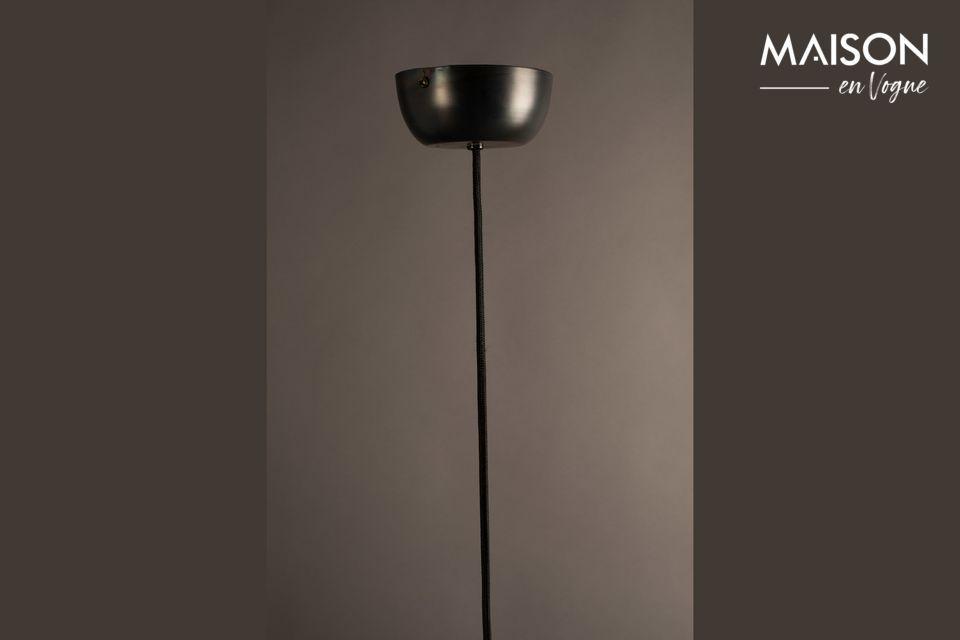 Lustre en métal noir