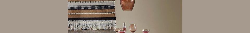 Mise en avant matière Suspension Zigzag en verre Ø23 cm Brun Doré