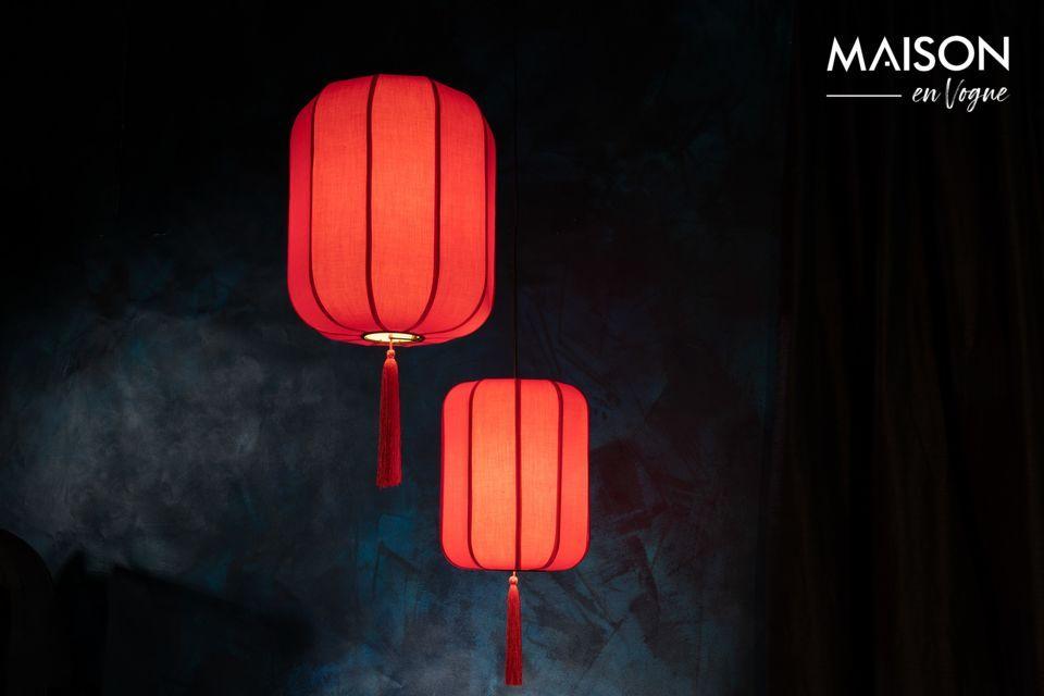 Voyage garanti au pays des mandarins avec ce modèle de lampe