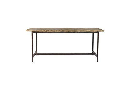 Table à manger Rough en bois et métal Détouré