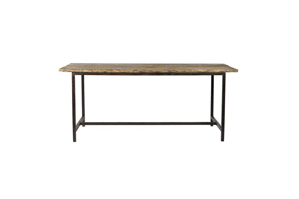 Table à manger Rough en bois et métal