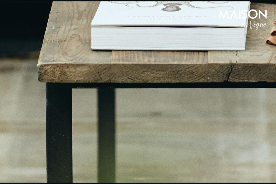 Table à manger Rough en bois et métal - 5