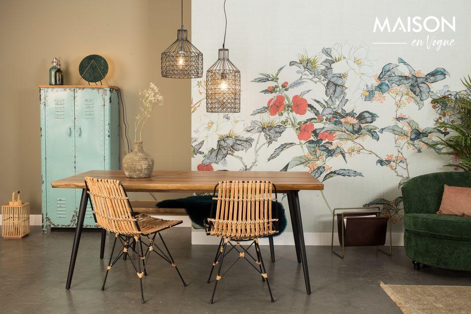 Dutchbone présente ce modèle de table Alagon au design élégant et naturel