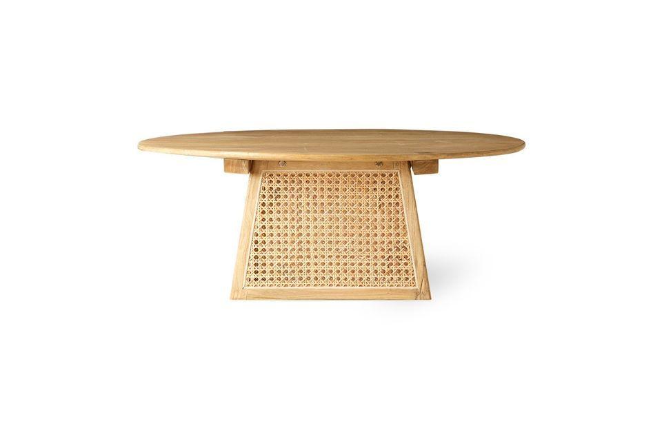 Misez sur une touche naturelle avec cette petite table de salon