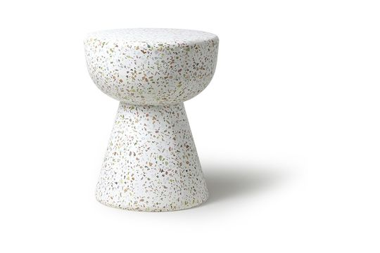 Table basse blanche Renno en terrazzo
