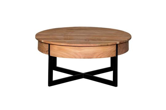 Table basse Castin ronde à 2 tiroirs
