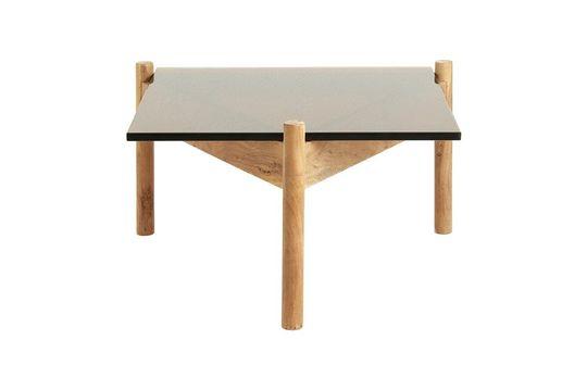 Table basse en bois et verre Ambre