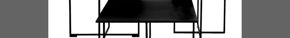 Mise en avant matière Table basse en métal Seattle