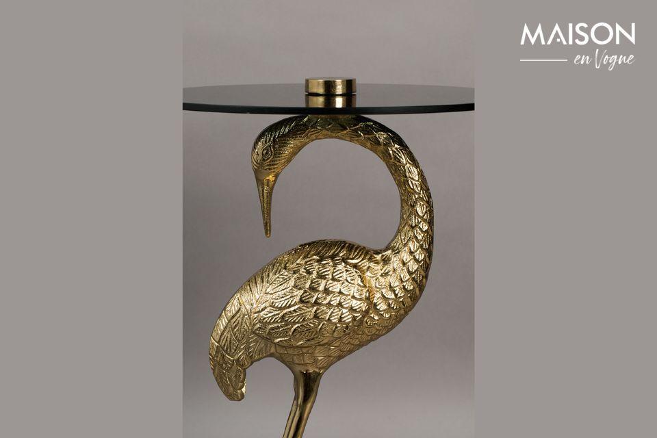Plaquée d\'or, la table basse Grue est une création éminemment raffinée