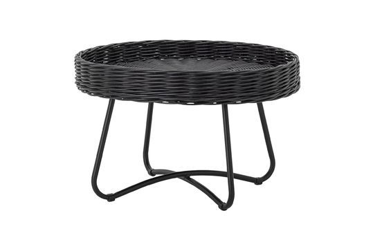 Table basse Hattie en rotin noir
