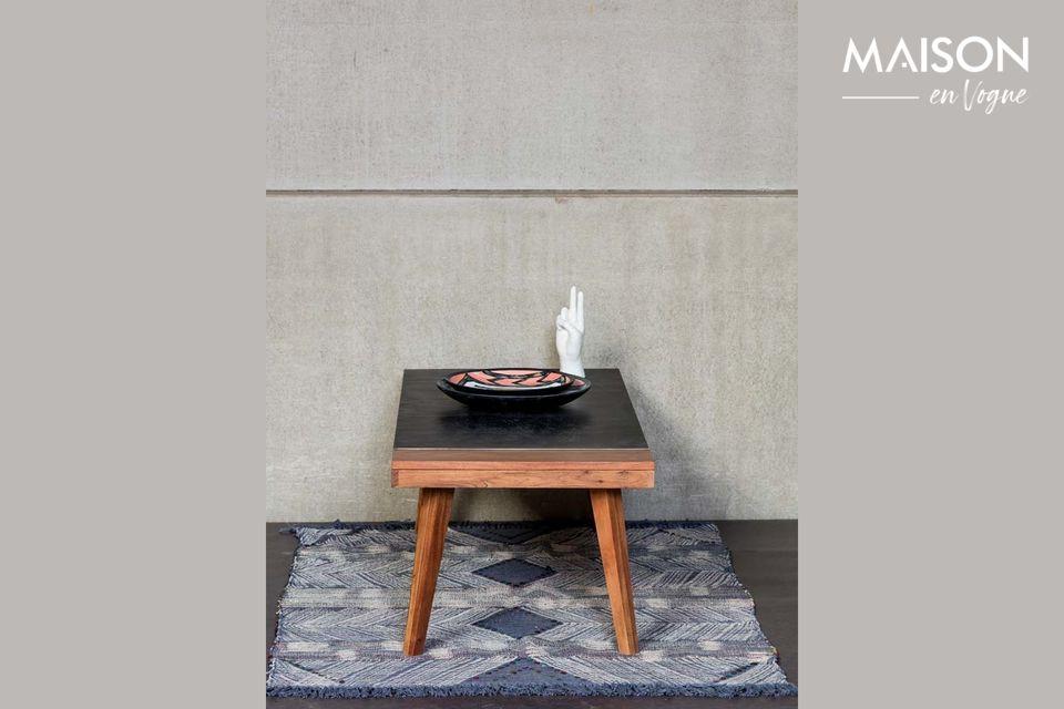 Table basse bicolore en acacia