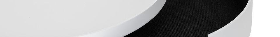 Mise en avant matière Table basse Tapa blanche en pin