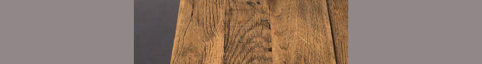 Mise en avant matière Table Bistro Braza carrée coloris brun
