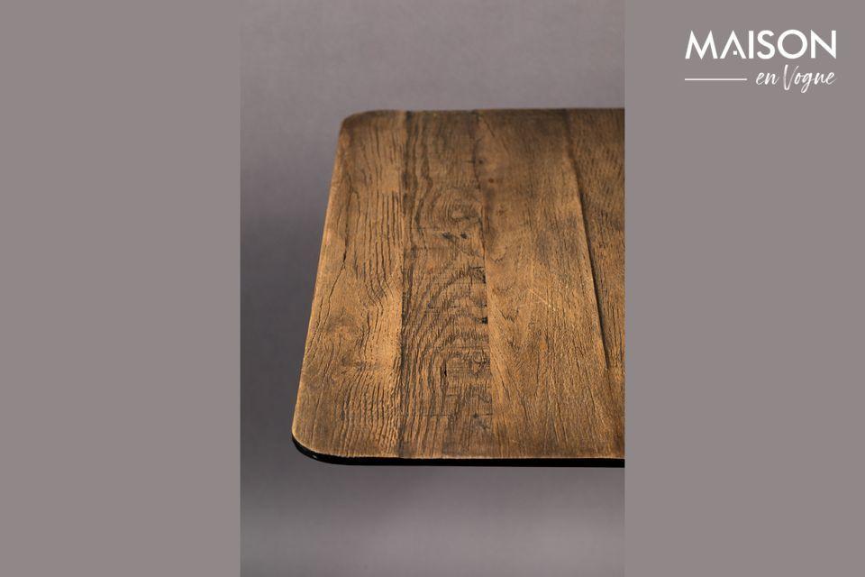 Table Bistro Braza carrée coloris brun - 5