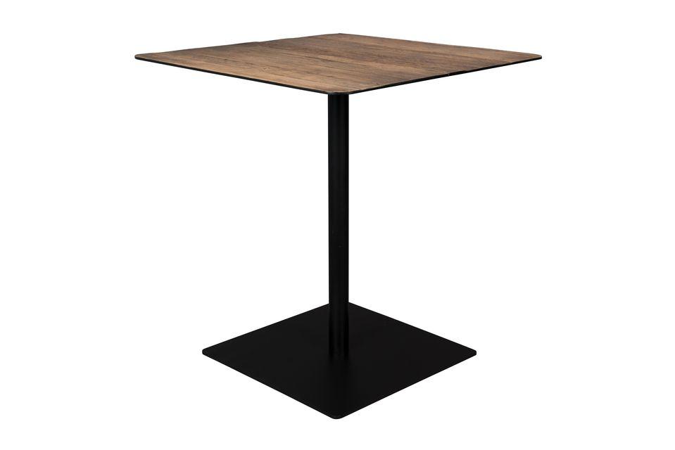 Table Bistro Braza carrée coloris brun - 6