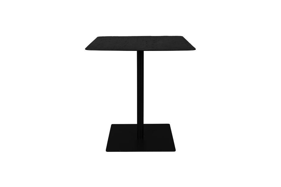 Table Bistro Braza carrée coloris noir Dutch Bone