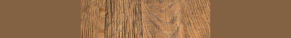 Mise en avant matière Table Bistro Braza ronde coloris brun