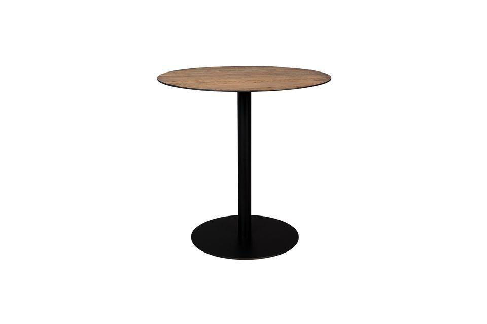 Table Bistro Braza ronde coloris brun