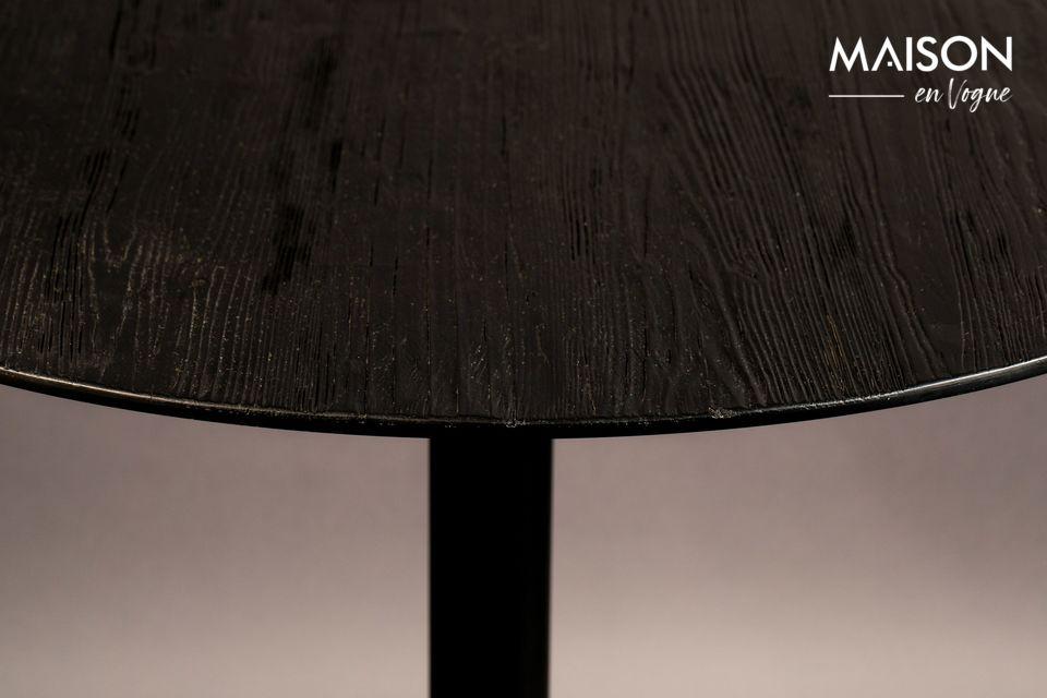 Table Bistro Braza ronde coloris noir - 5