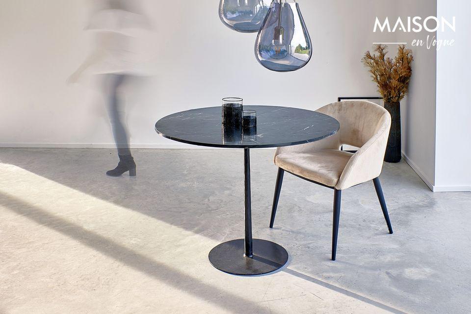Table Bistro noire Pomax