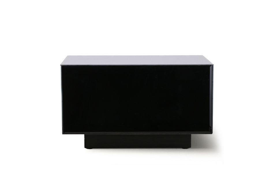 Une table noire au style sophistiqué