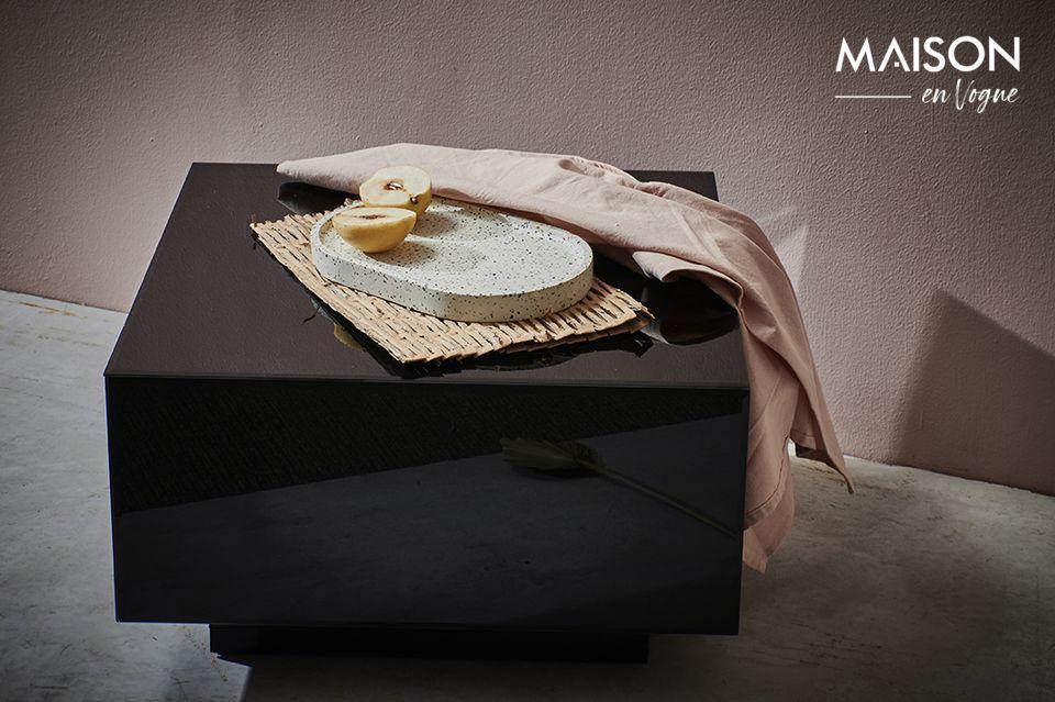 Table carrée noire effet miroir Baneuil HK Living