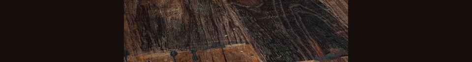 Mise en avant matière Table Crude en bois