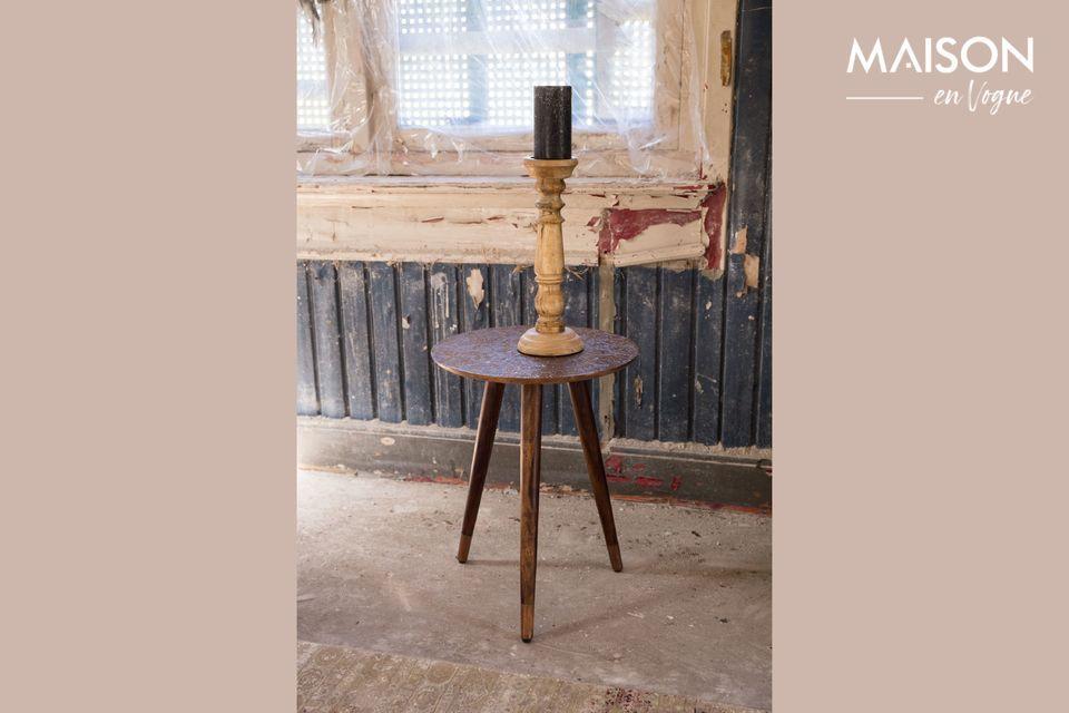 Table d'appoint Bast finition cuivre Dutch Bone