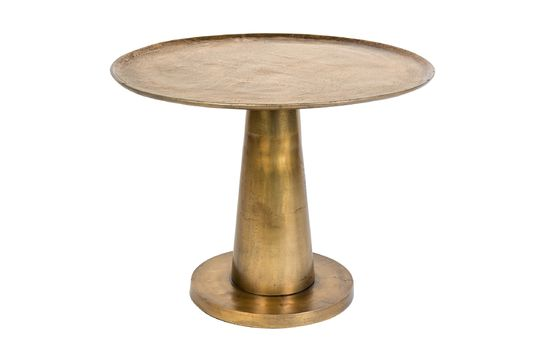 Table d'appoint Brute ronde en laiton Détouré