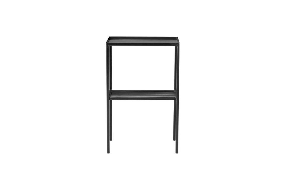 Table d'appoint Cordon en métal noir avec grille Bloomingville
