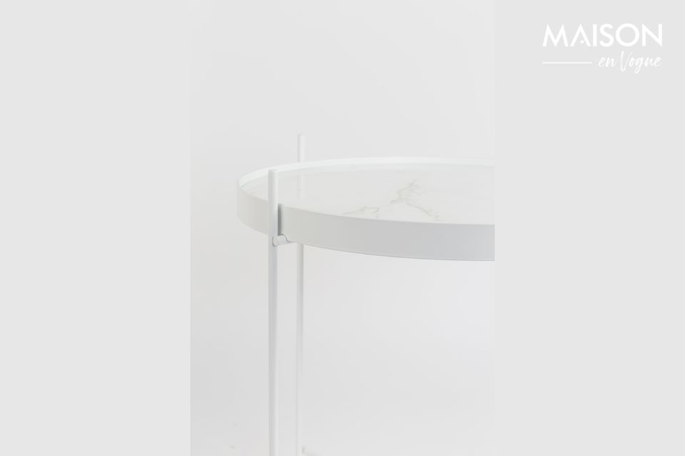 Table d'appoint Cupid Marbre Blanc - 6