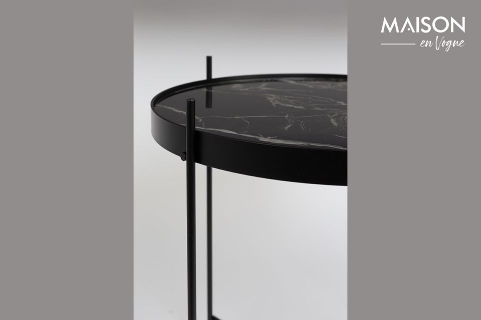 Table d'appoint Cupid Marbre Noir - 6
