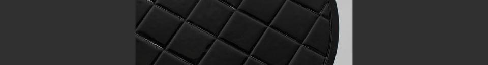 Mise en avant matière Table d'appoint Glazed noire