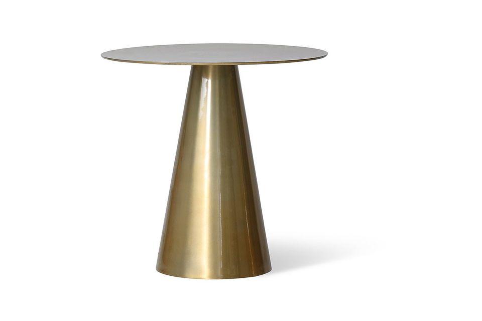 Table d'appoint Hoffen en aluminium et laiton