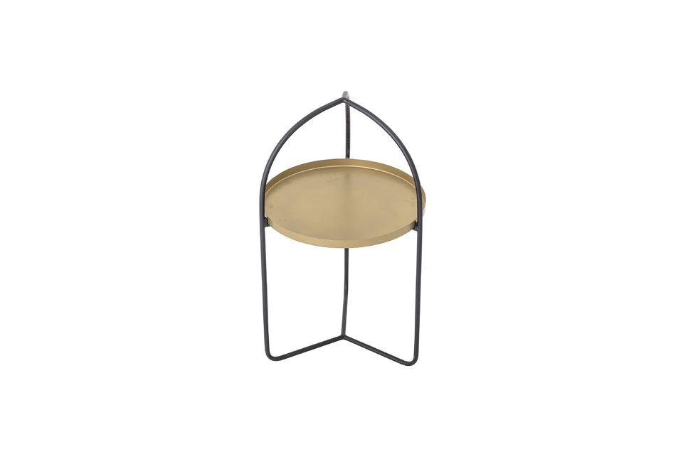 Une petite table d\'une hauteur de 71 cm et un plateau de 40,5 cm