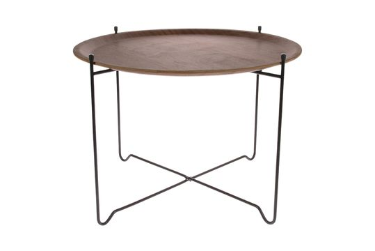 Table d'appoint Lains en noyer taille L