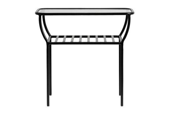 Table d'appoint noire Chic en fer et verre Détouré