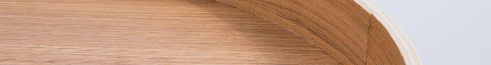 Mise en avant matière Table d'appoint Oak Tray