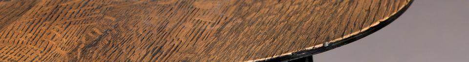 Mise en avant matière Table d'appoint Pepper marron 45 centimètres