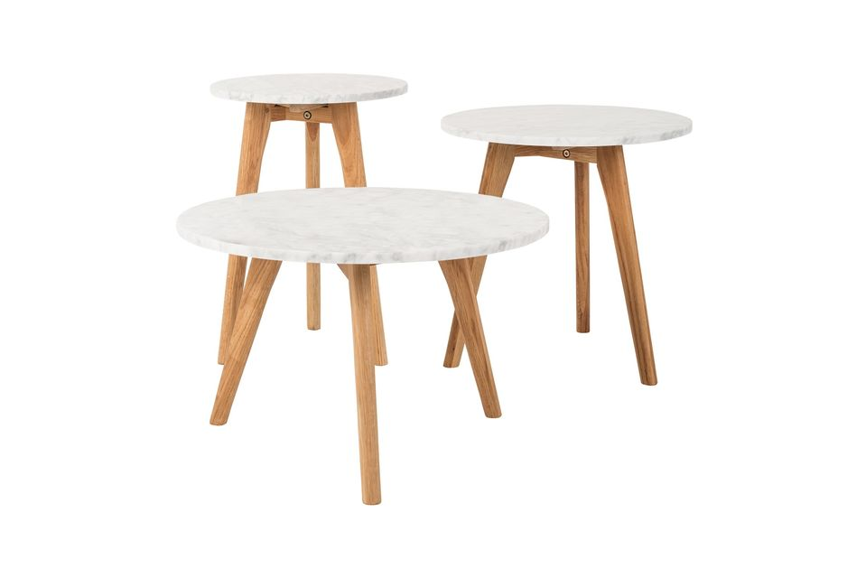 Table d'appoint Pierre Blanche taille L - 10
